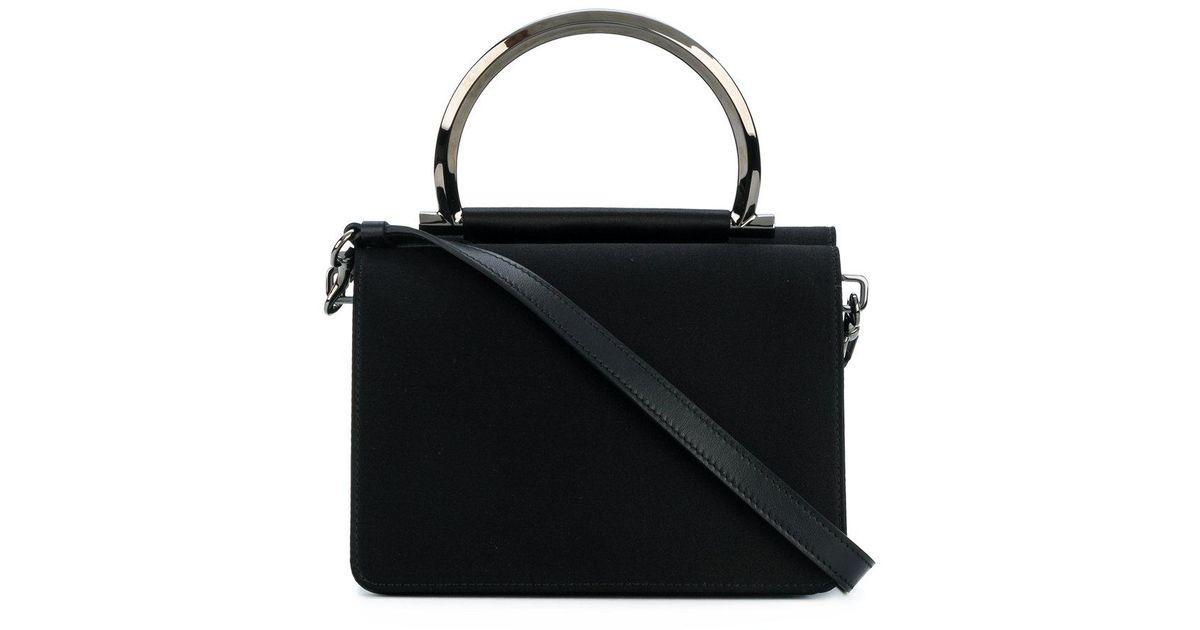 37cfc8452447 Lyst - Ferragamo Gancio Handle Crossbody Bag in Black