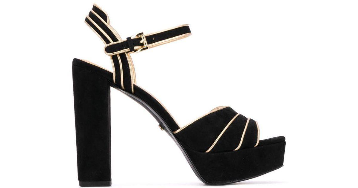3aa3e2517db9 Lyst - MICHAEL Michael Kors Harper Sandals in Black