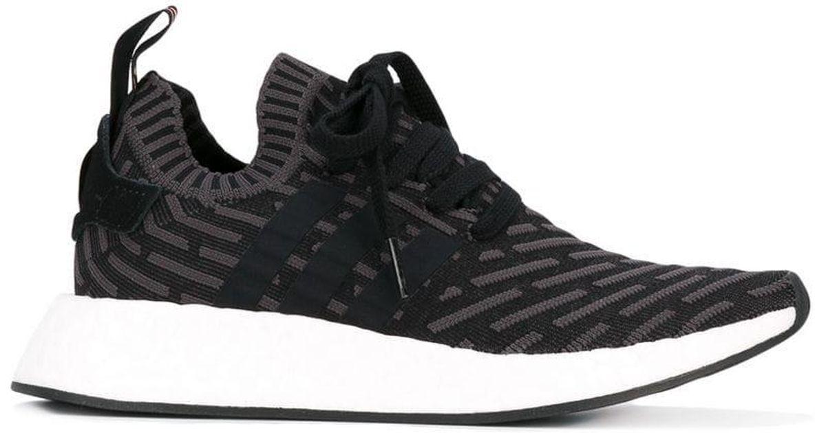 f0974cc30 Adidas Nmd r2 Primeknit Sneakers in Black - Lyst