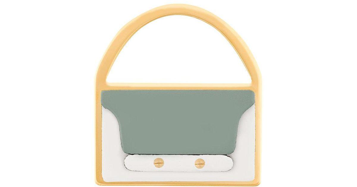 Marni Trunk bag brooch - Metallic uIHQDu
