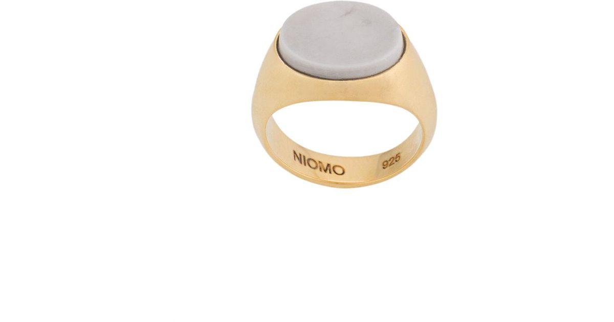 Niomo Philomena oval ring - Metallic o2g3E