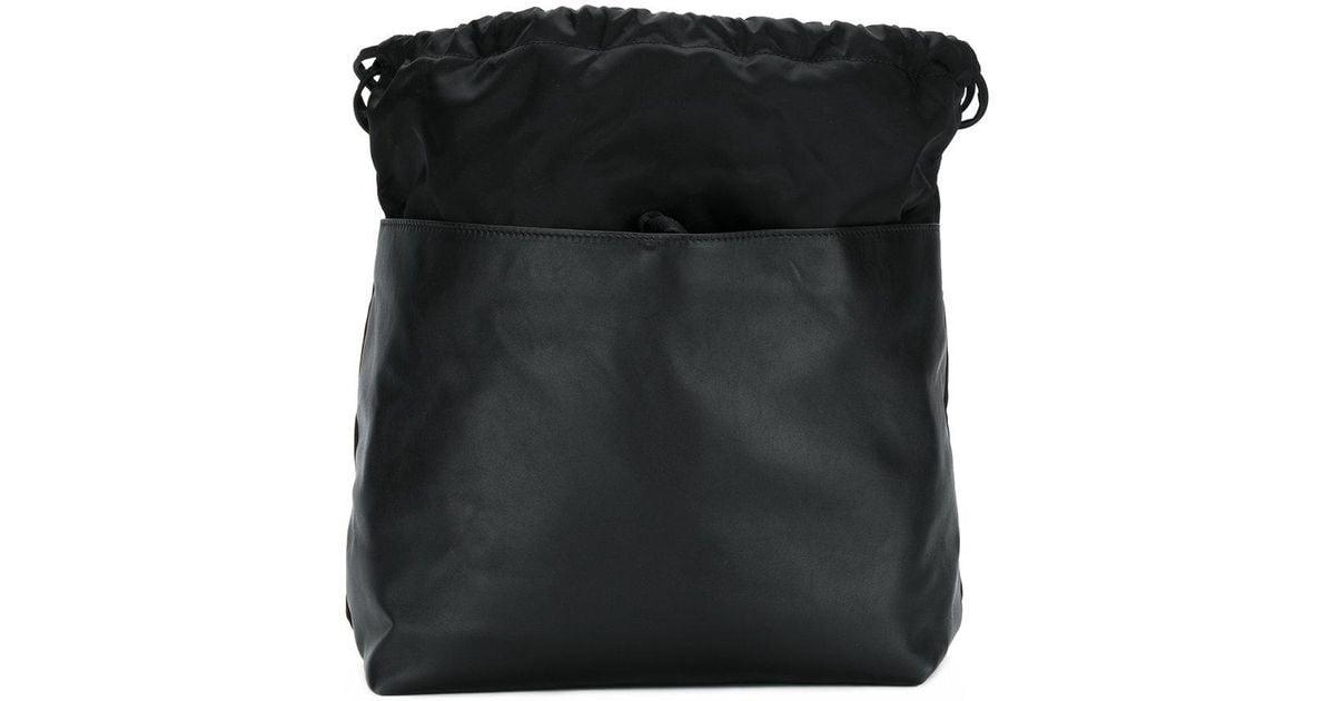 leather panel drawstring backpack - Black Marni Super Specials High Quality Pre Order Online foH2v