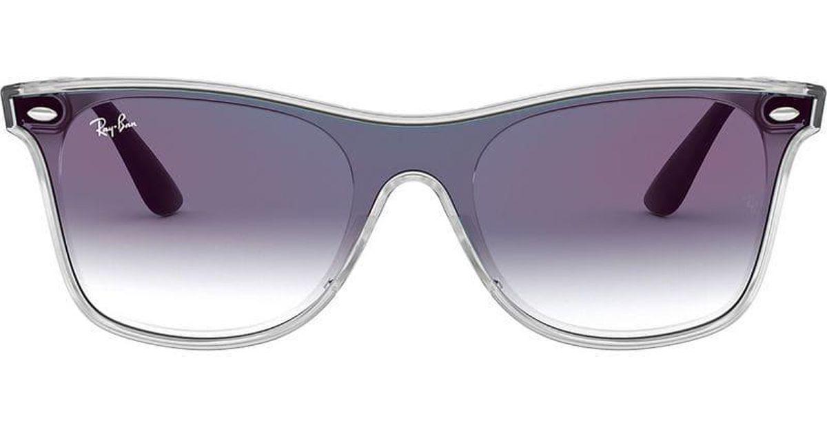 4fc867abcb1 Ray-Ban Blaze Wayfarer Sunglasses in Blue - Lyst