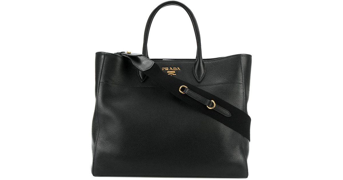 b1fbc03151e7 Lyst - Prada Classic Shopper Tote in Black