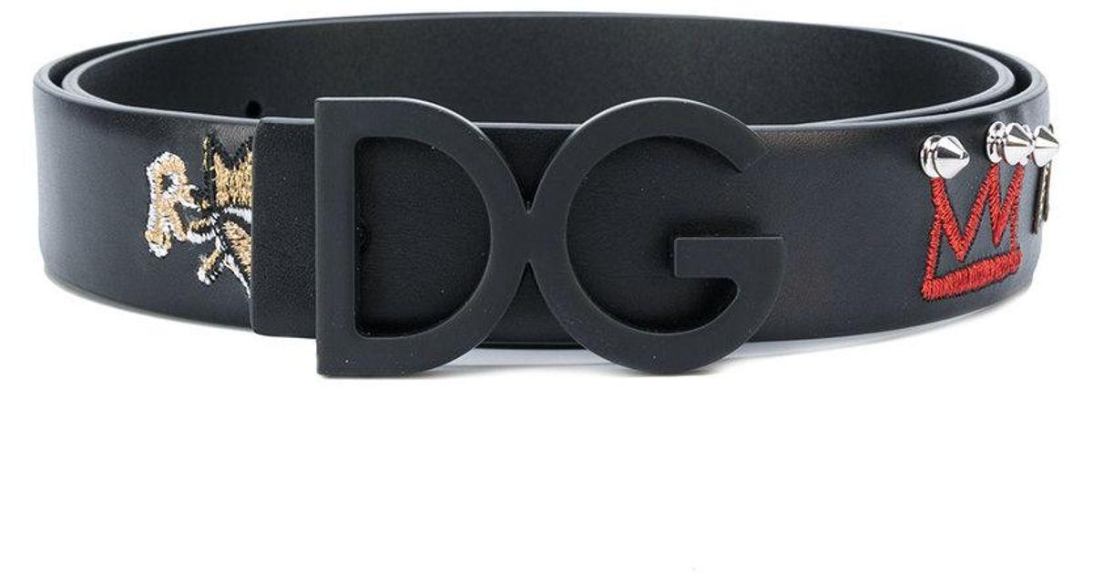 1639b6dd6a inexpensive dolce gabbana logo buckle belt black b28a5 c7aae; coupon lyst  dolce gabbana prince forever belt in black for men ab81d f5afe