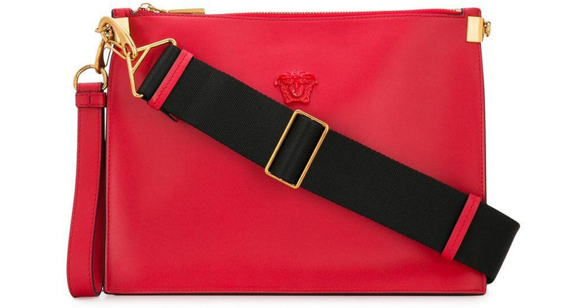 499b595686cf Lyst - Versace Palazzo Medusa Wristlet Clutch Bag in Red