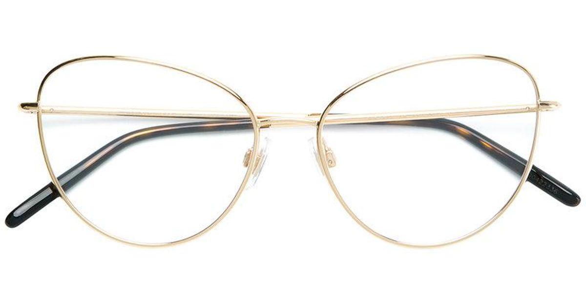2437581bc31 Dolce   Gabbana Cat Eye Glasses in Metallic - Lyst