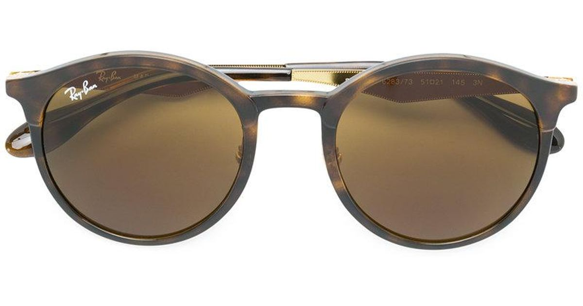 707a2468510 Ray-Ban Round Shaped Sunglasses in Brown - Lyst