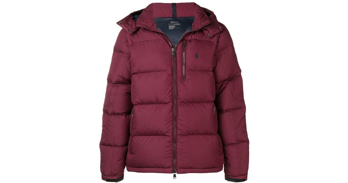 f851153de Polo Ralph Lauren Zipped Up Padded Jacket in Red for Men - Lyst