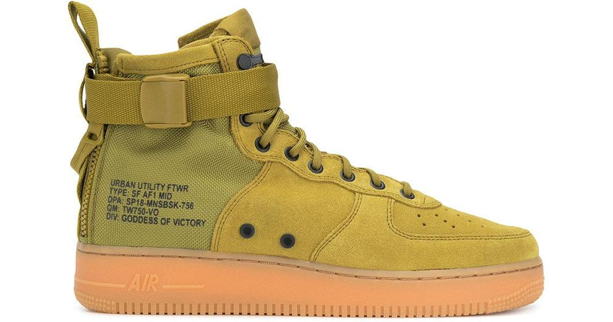 edcef1cce4 Nike Sf Air Force 1 Sneakers in Green for Men - Save 54% - Lyst