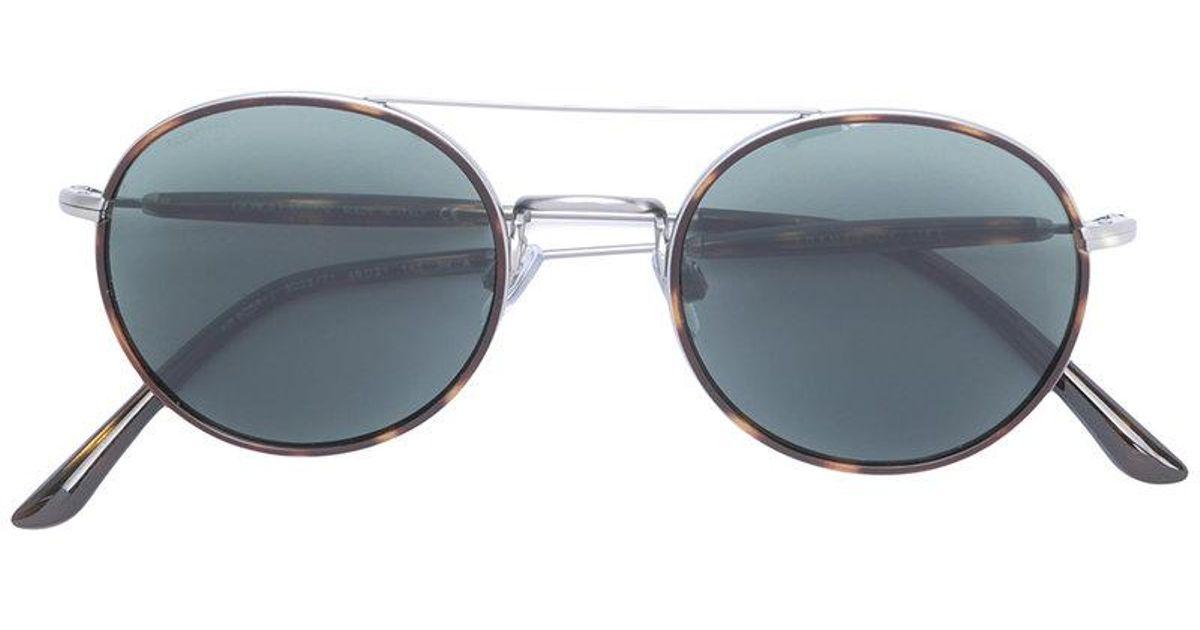 c96f0af7944 Lyst - Giorgio Armani Classic Round Sunglasses in Gray