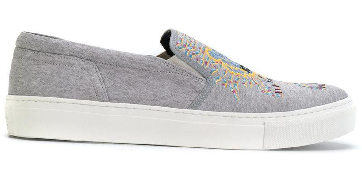 3c4cdaba2413 Lyst - Kenzo Tiger Sneakers in Gray