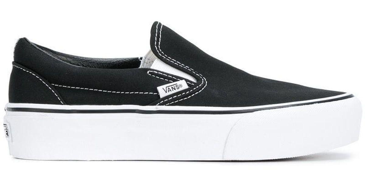 8ad87f9b013d64 Vans Classic Slip-on Platform Sneakers in Black for Men - Lyst