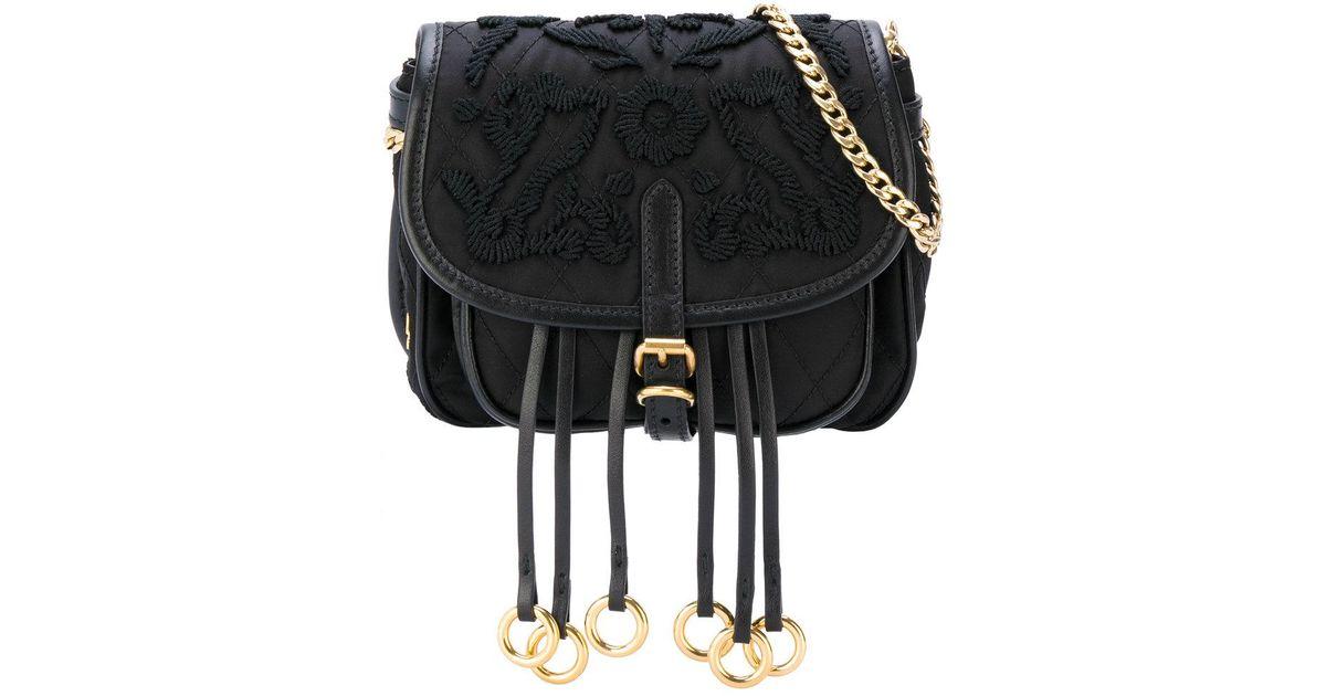 e1e2583760dd Lyst - Prada Corsaire Convertible Belt Bag in Black