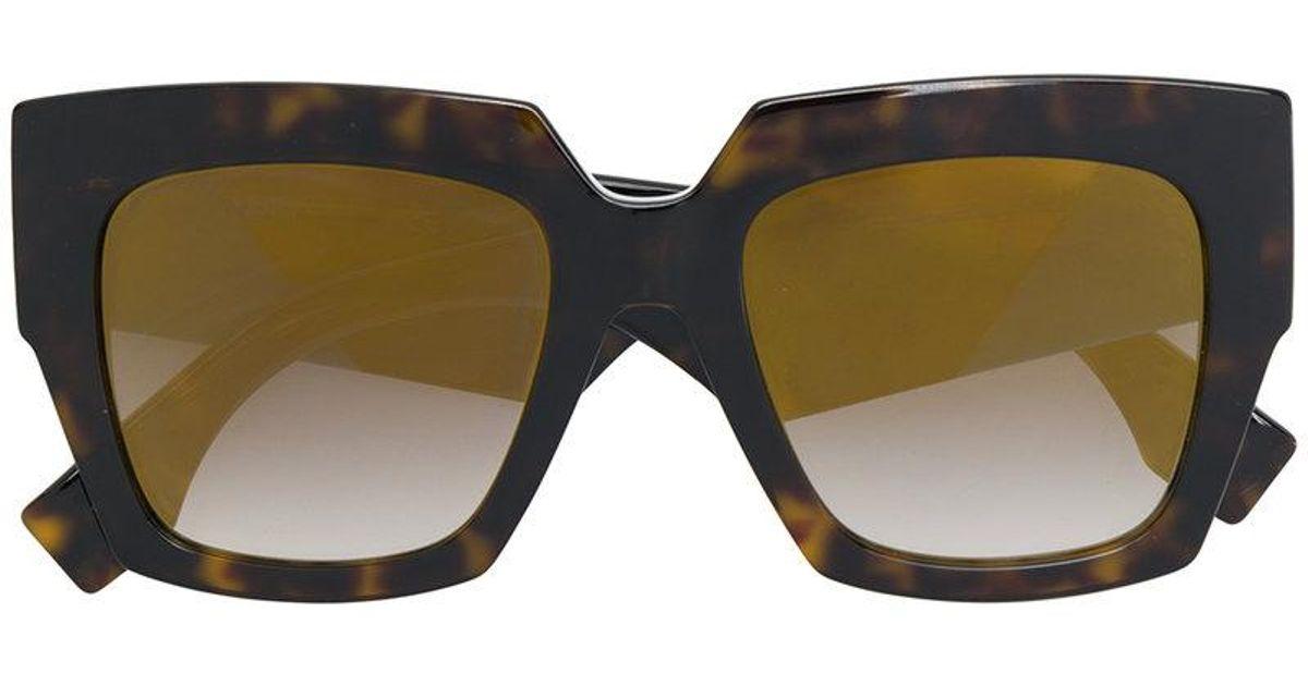 Fendi Gafas Sol Marrón Tamaño Chunky Gran De De 06q0Pp