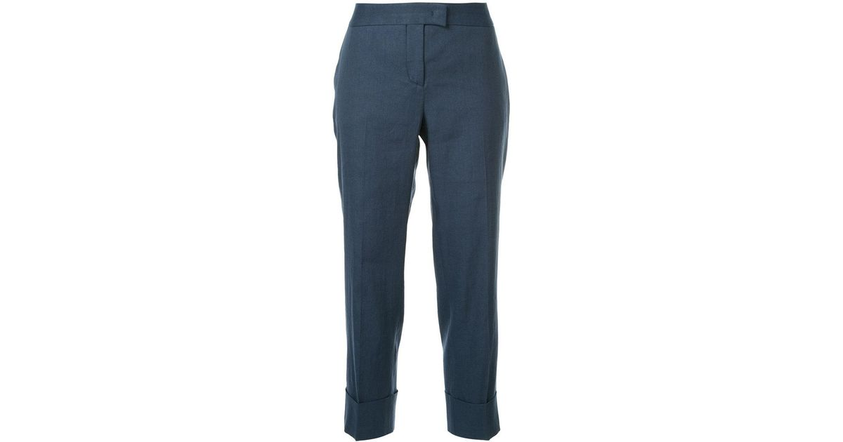 cropped tailored trousers - Grey Fabiana Filippi vaVOsHDVpY
