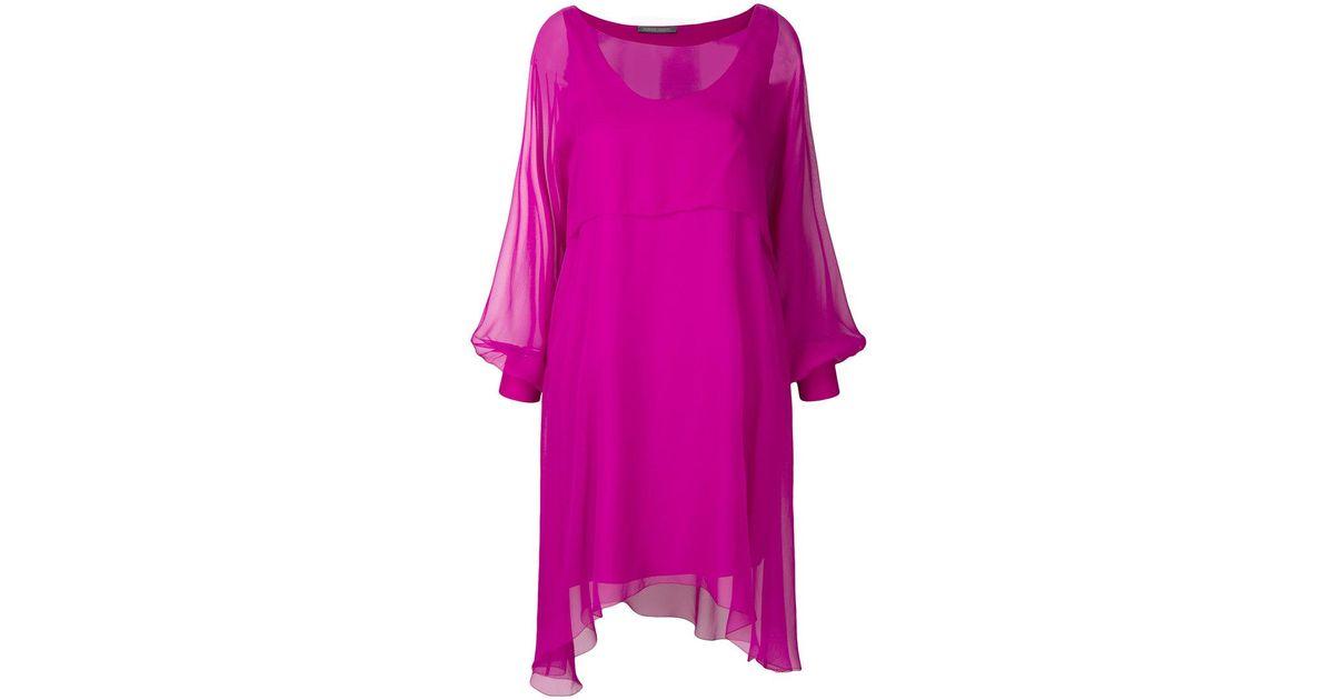 sheer balloon sleeve mini dress - Pink & Purple Alberta Ferretti Cheap Outlet Store Sale Footlocker Finishline Free Shipping Lowest Price Store Sale kPKm8yArv
