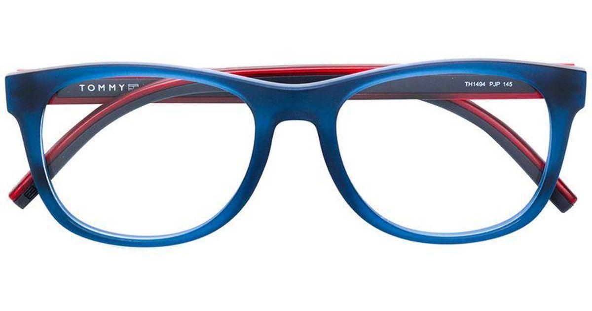 ea9143d8dd8 Tommy Hilfiger Square Glasses in Blue for Men - Lyst