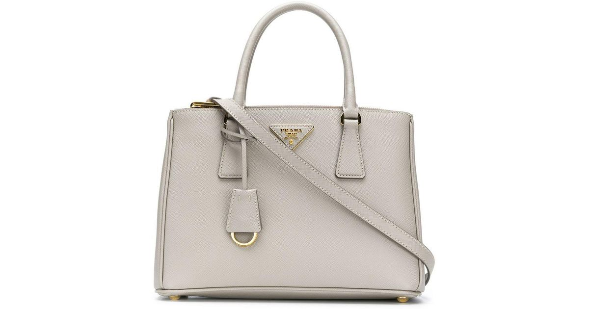 dec30c0a1de4 Lyst - Prada Galleria Medium Tote in Gray