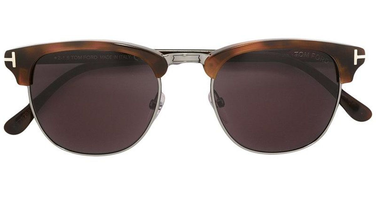 bb2faa1f1ae5 Lyst - Tom Ford Square Shaped Sunglasses in Brown