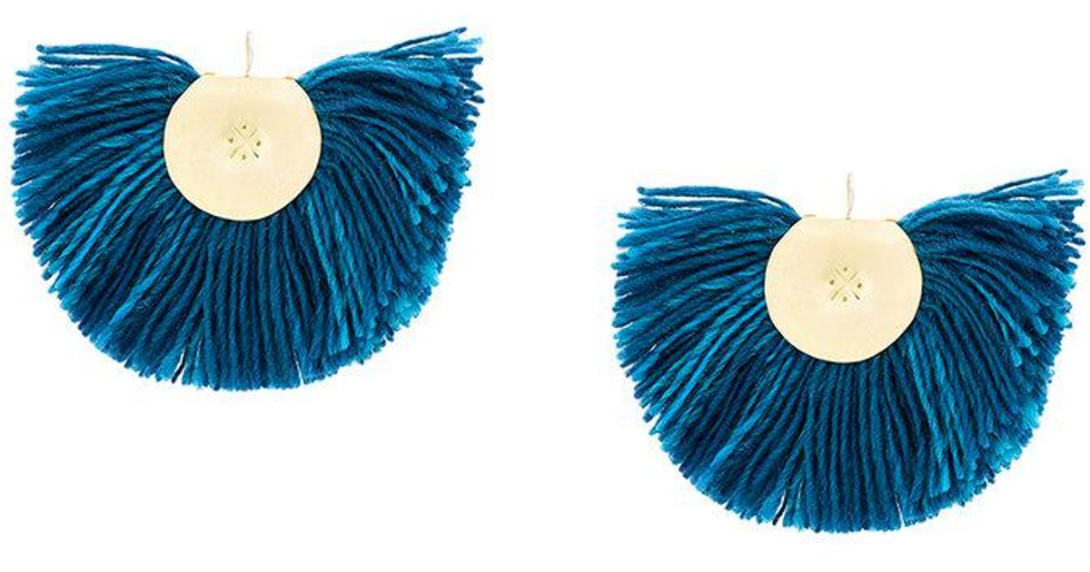 Boucles D'oreilles Fan Turquoise Katerina Makriyianni UeHpEf