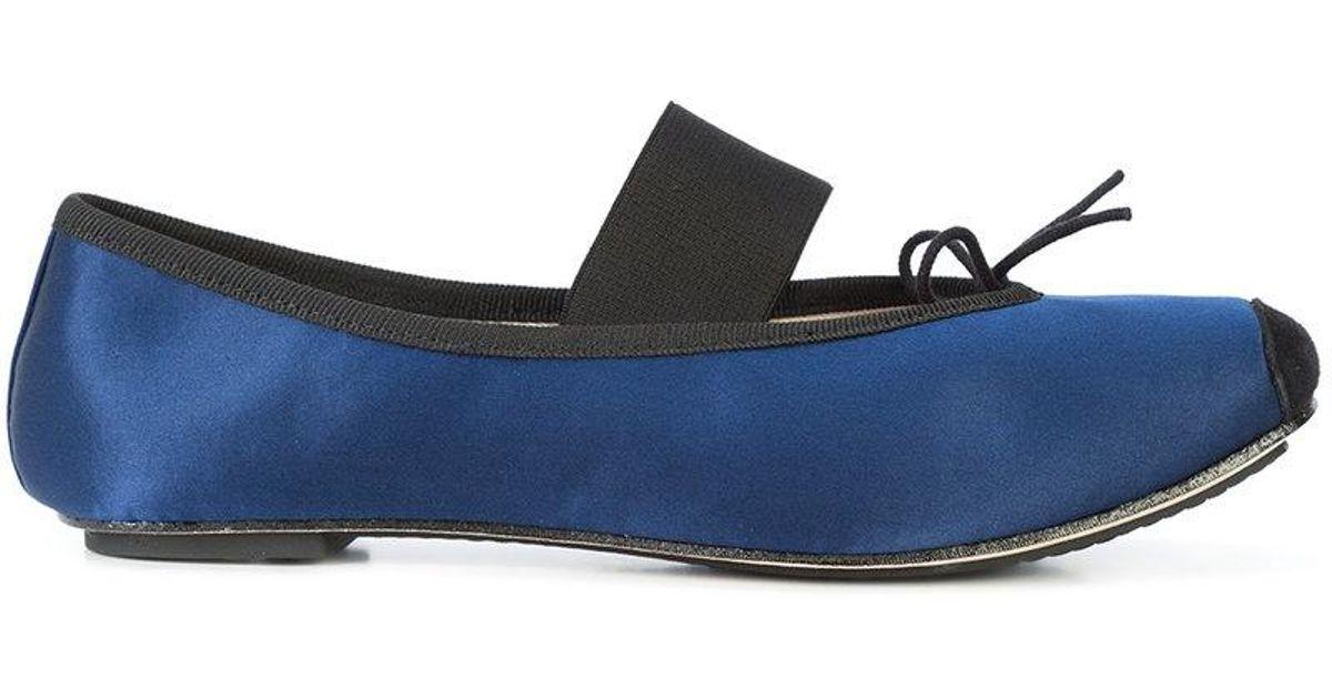 Sangle Repetto Ballerinas - Bleu QS50c