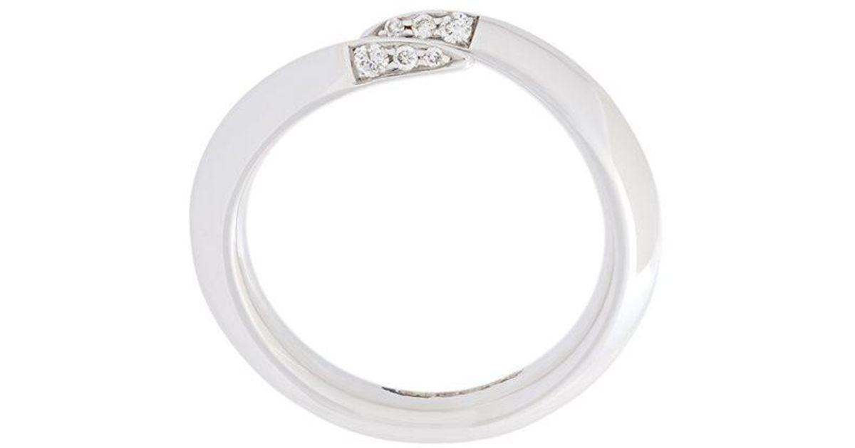 Shaun Leane Signature Tusk diamond wrap ring - Metallic BWaf7