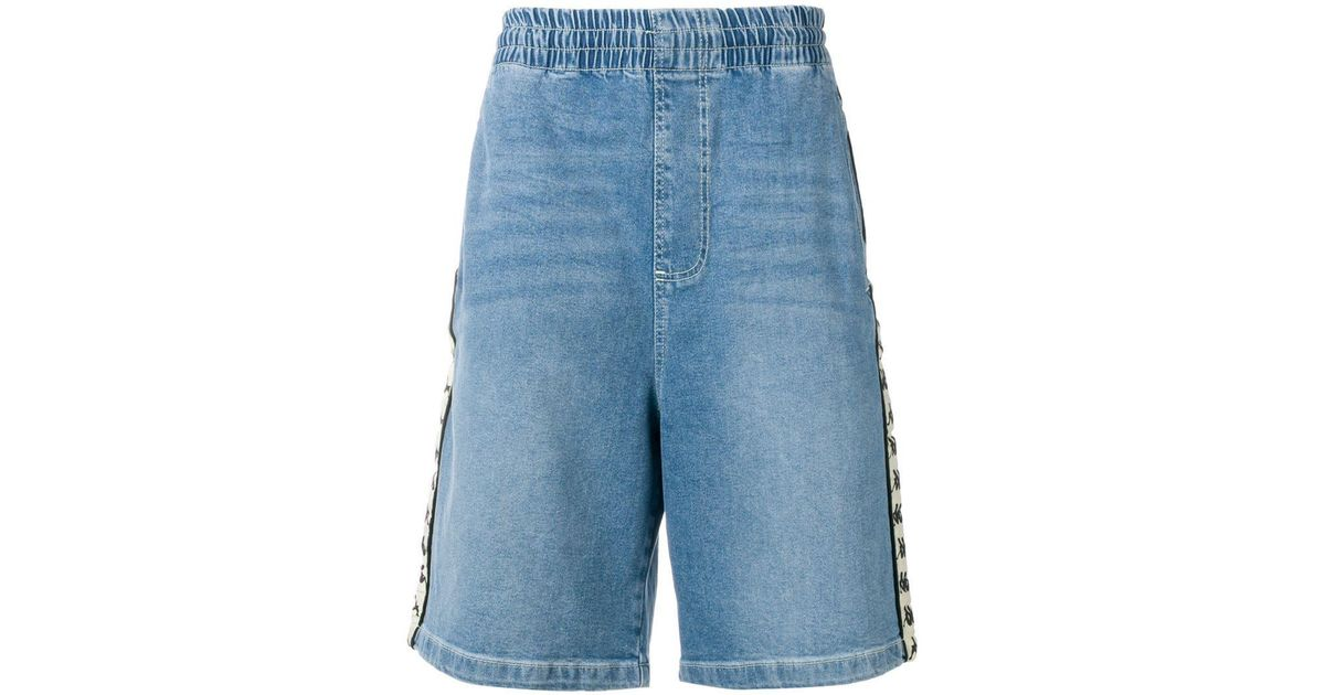 897b4566e4add Kappa - Blue Contrast Logo Denim Shorts for Men - Lyst