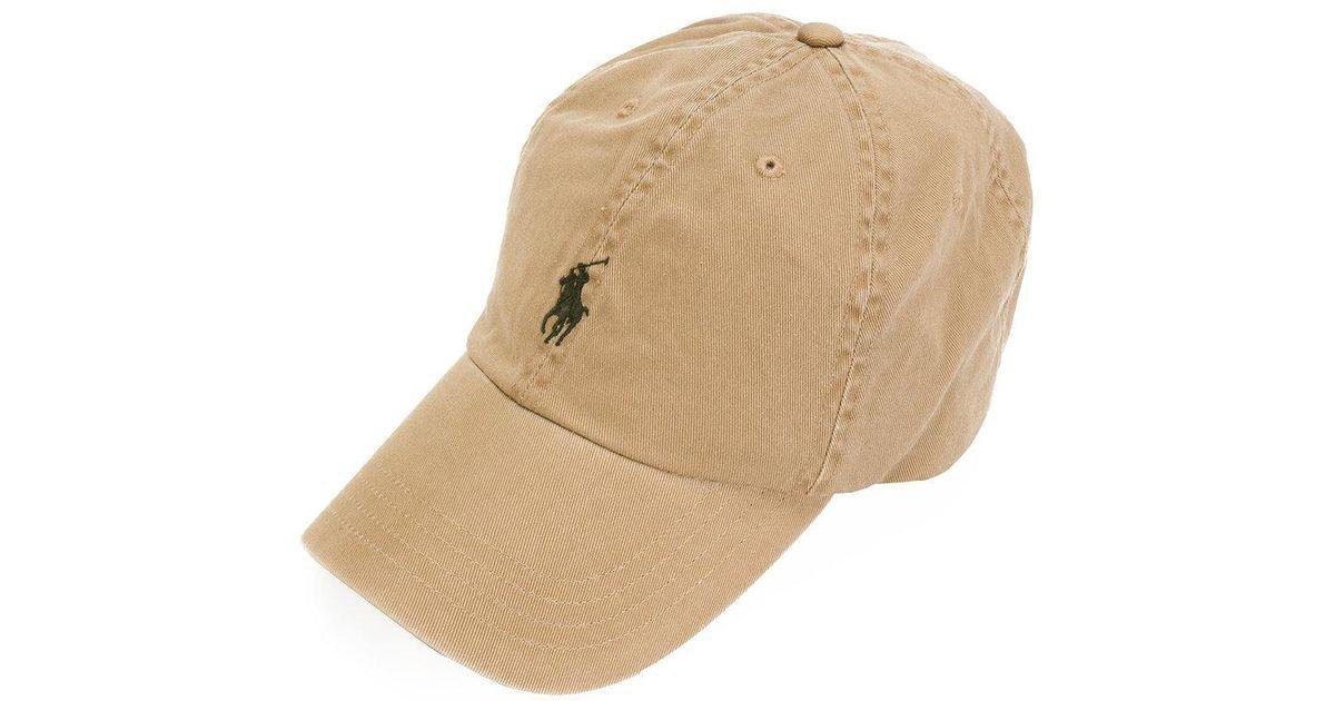 748fd2f6d6e7e Polo Ralph Lauren Logo Baseball Cap in Brown for Men - Lyst