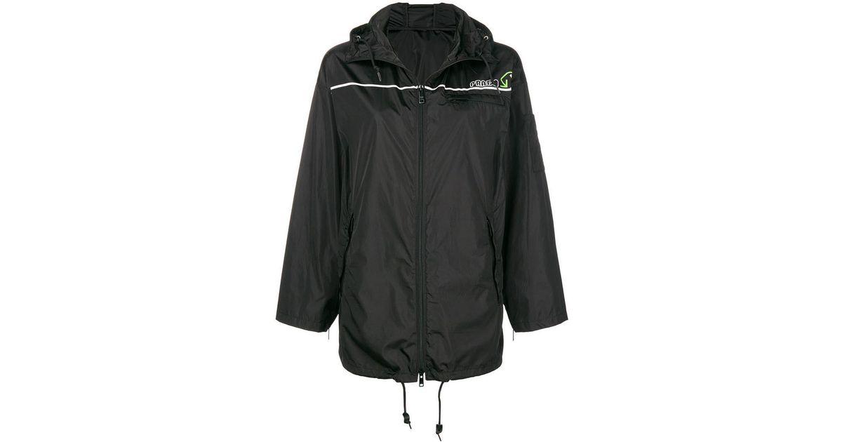 Prada In Lyst Neck Black Foldover Jacket rgqP4TUrZ