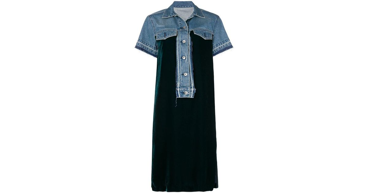 c5c74ce7ca1 Sacai Loose Fitted Summer Dress in Blue - Lyst