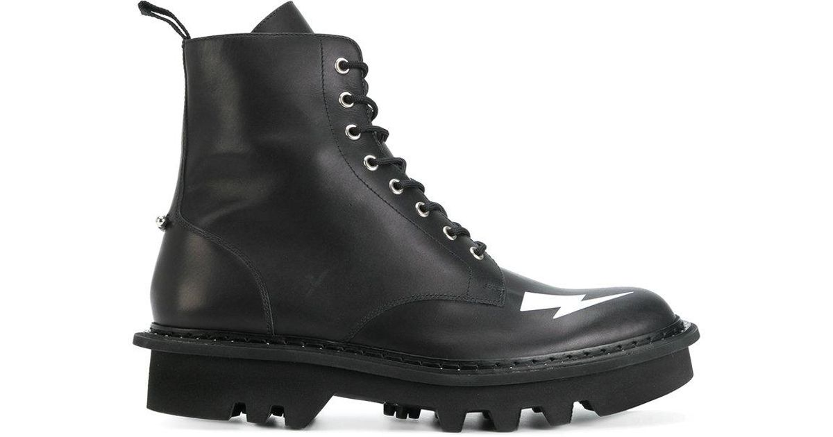 Neil BarrettThunderbolt Military Boots TUYmQQp