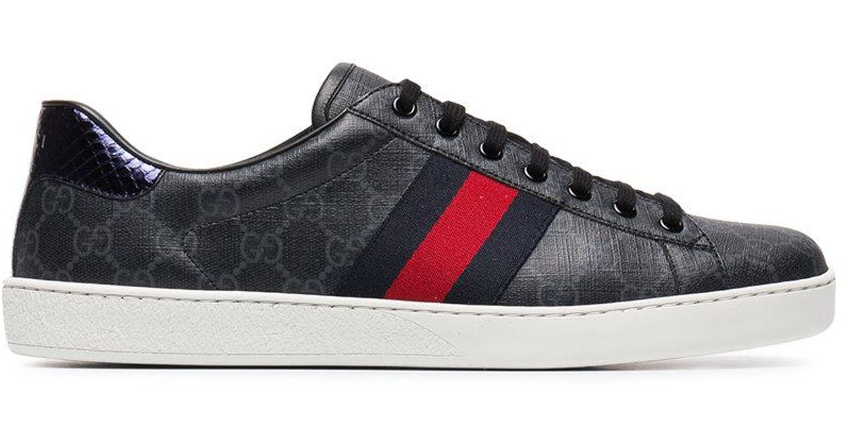 21478c9a8 Gucci Ace Gg Supreme Low-top Sneakers in Black for Men - Lyst