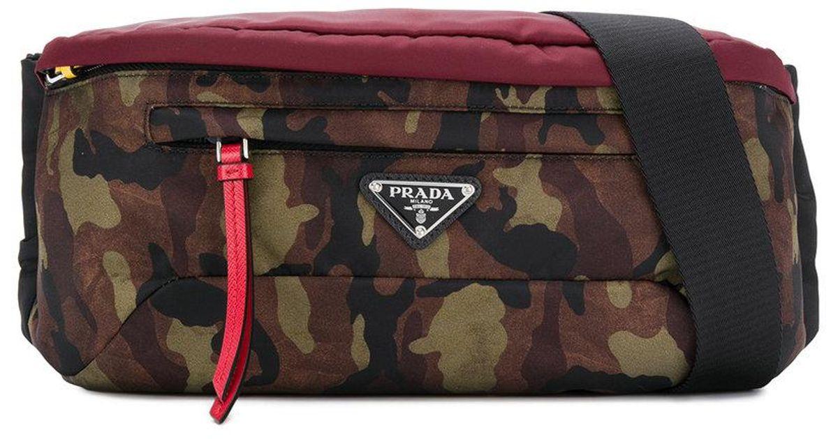 c967e405b6 Lyst - Prada Montagan Camouflage Bag in Green for Men