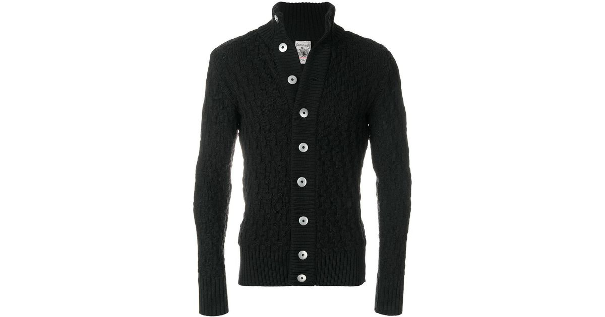 S.n.s herning Button-down Cardigan in Black for Men | Lyst