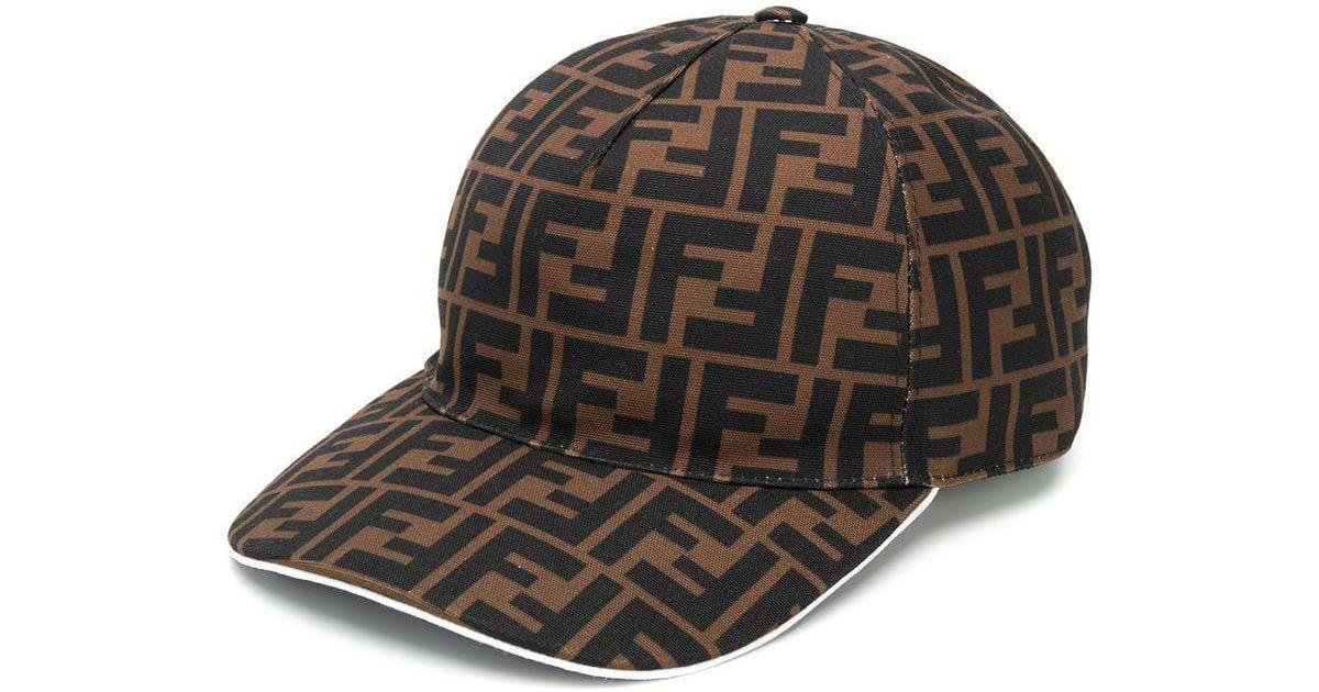 Fendi Monogram Baseball Cap in Brown for Men - Lyst 6ba82e6ebda