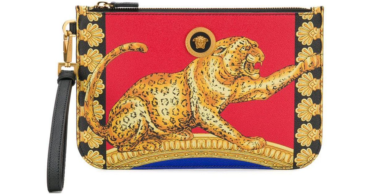 Versace cheetah-print pouch - Multicolour 3dYWzv