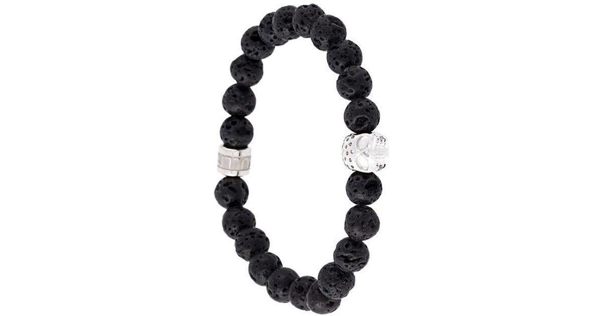 Northskull beaded skull bracelet - Black cx8Y8p9J4D