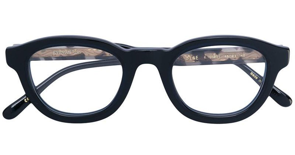 055eb6b25d3 Eyevan 7285 Thick Round Frame Glasses in Black - Lyst