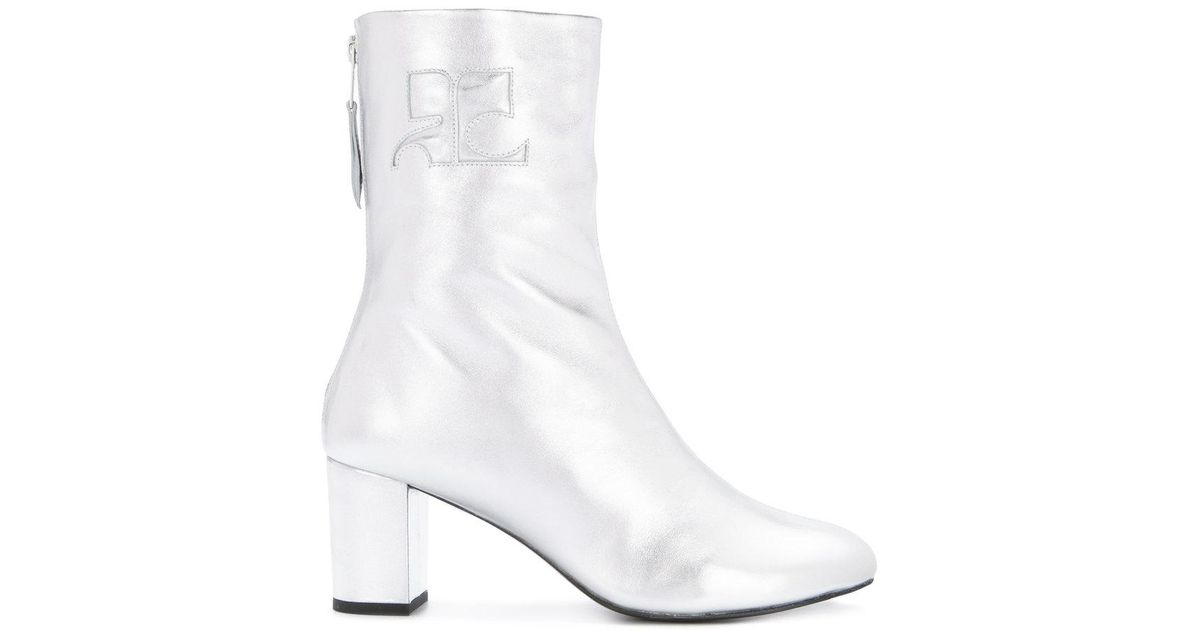 Courrèges Metallic Ankle Boots Cheapest sale online cheap recommend 4yzj5k