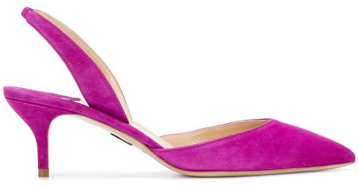 pointed sling back pumps - Pink & Purple PAUL ANDREW AabEk