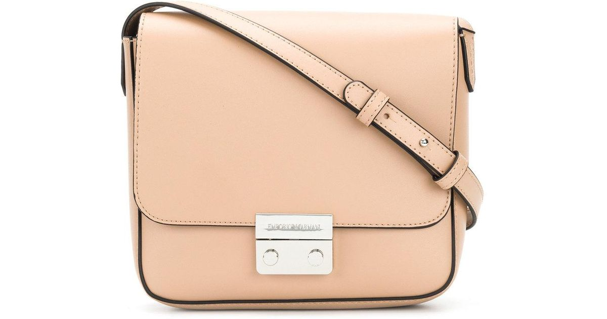 edb46afc9504 Lyst - Emporio Armani Crossbody Bag in Natural