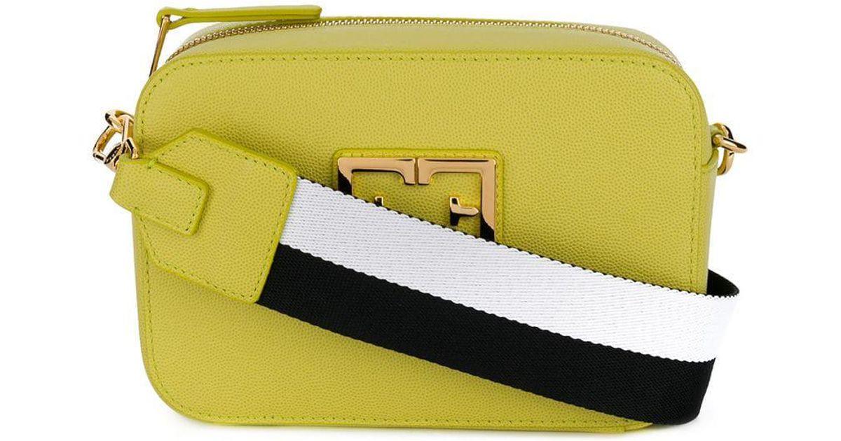 f4833ca96eaf Lyst - Furla Rainbow Strap Crossbody Bag in Yellow