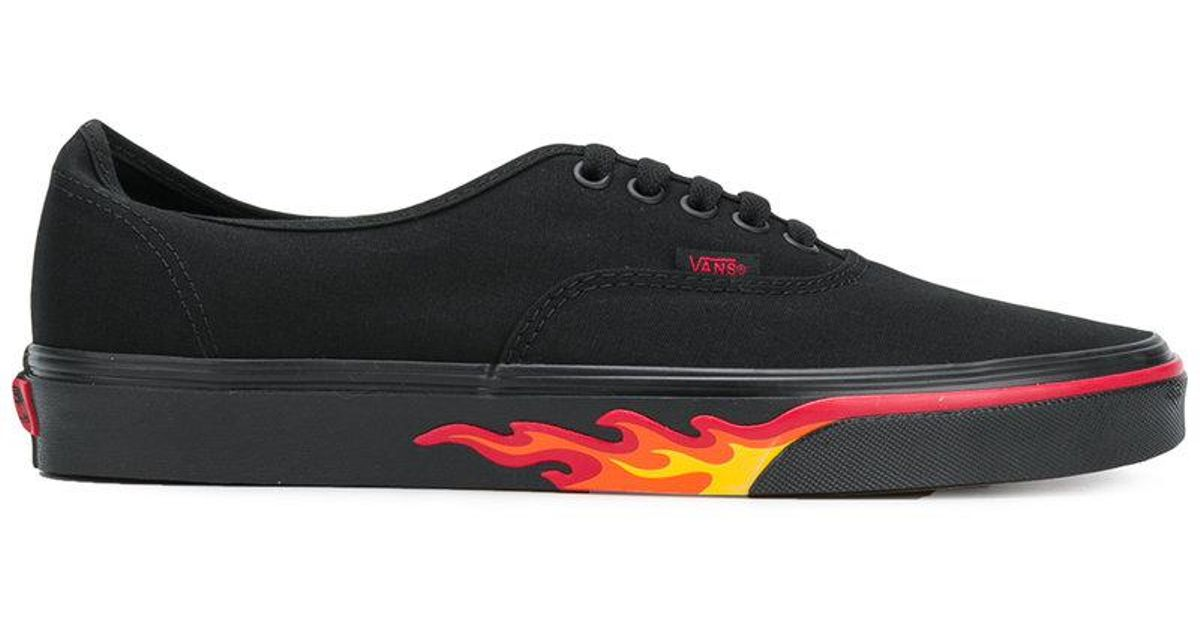 38d90a5b4c7ee8 Lyst - Vans Authentic Flame Wall Sneakers in Black