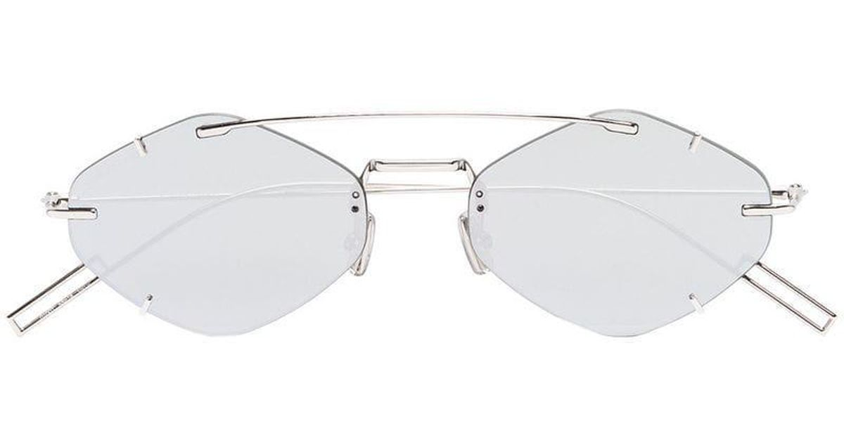 6dd2ab59716c Dior Silver Tone Inclusion Geometric Sunglasses in Gray for Men - Lyst