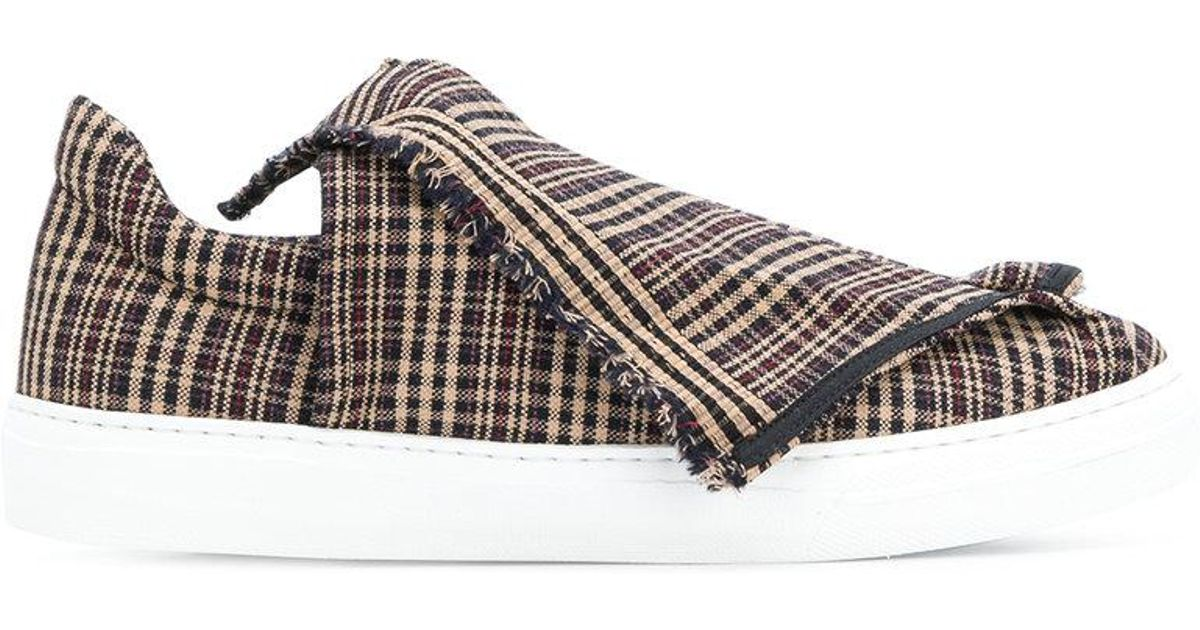 foldover plaid slip-on sneakers - Brown Ports 1961 GJbck1F