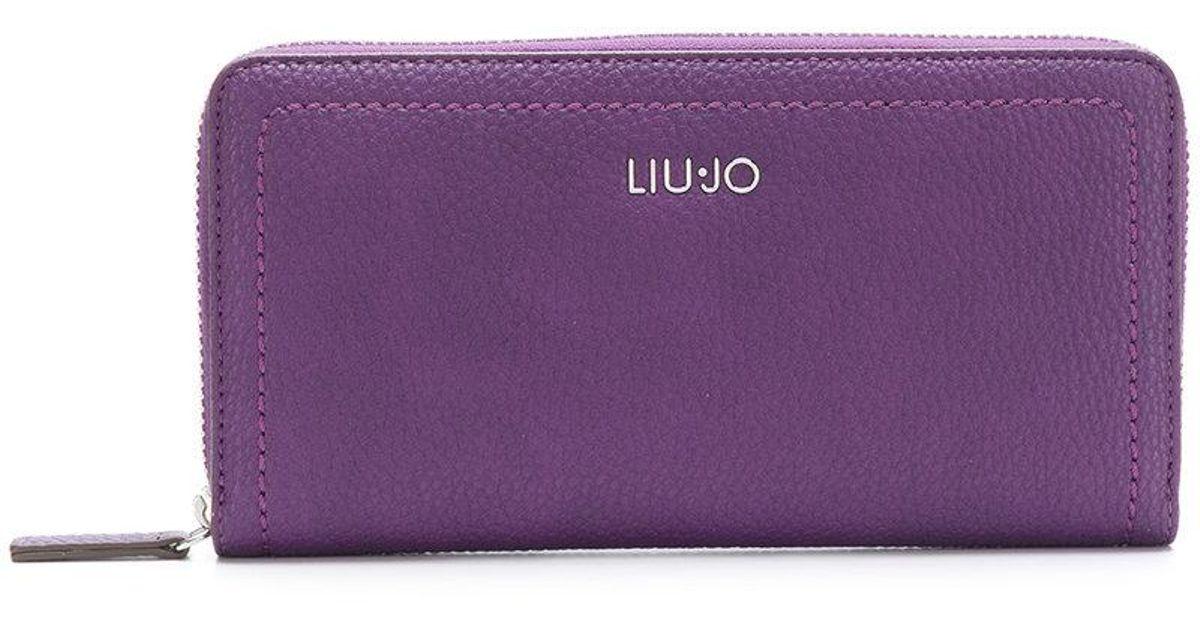 Manhattan zip-around wallet - Pink & Purple Liu Jo Clearance Cheap Real cFQNbuls5G