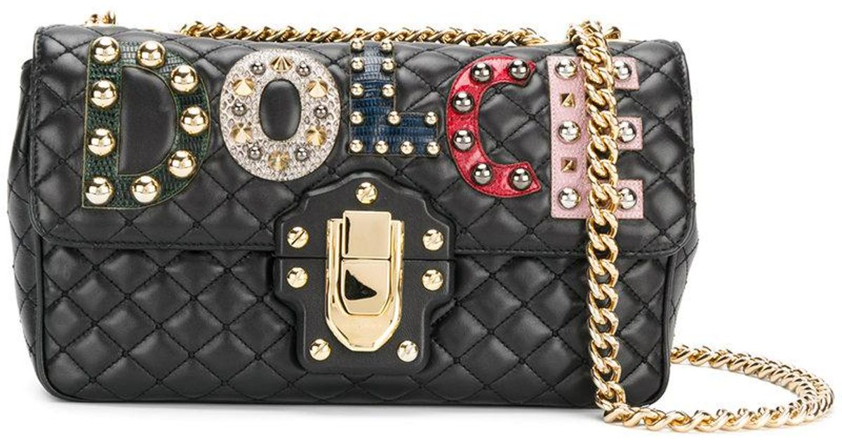 Lyst - Dolce   Gabbana Lucia Quilted Shoulder Bag in Black e228ac980da4e
