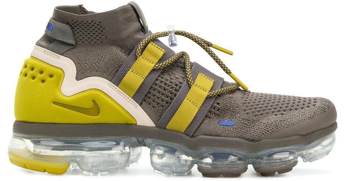 9521604bce1b Nike Air Vapormax Flyknit Utility Sneakers in Green for Men - Lyst