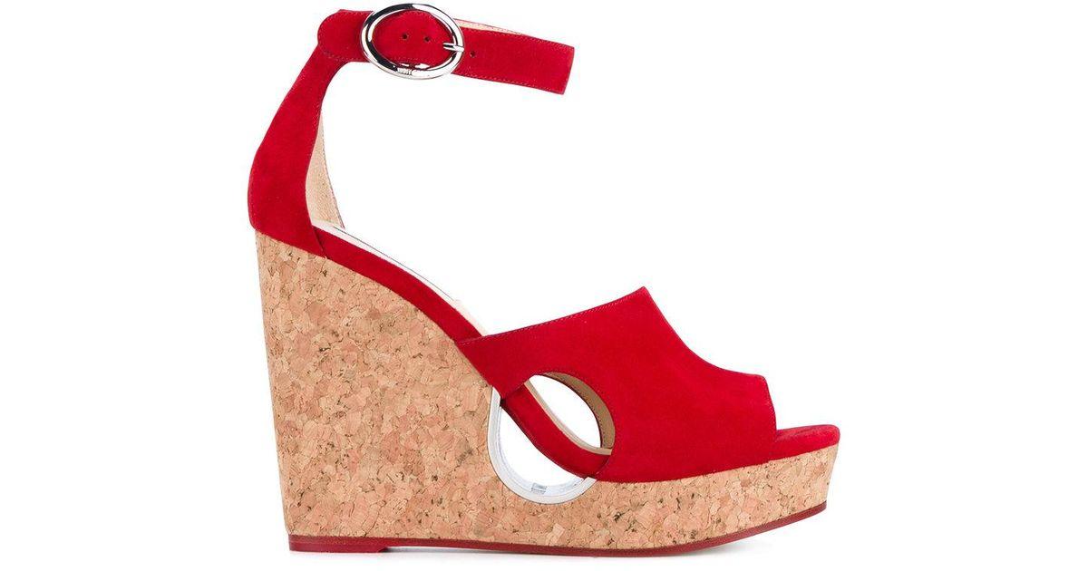 4de0a343ae0 ... aliexpress lyst jimmy choo neyo 120 wedge heeled sandals in red 63459  fc90e